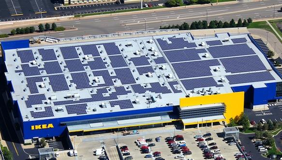 Businesses are using solar panels to save money and to fight global warming